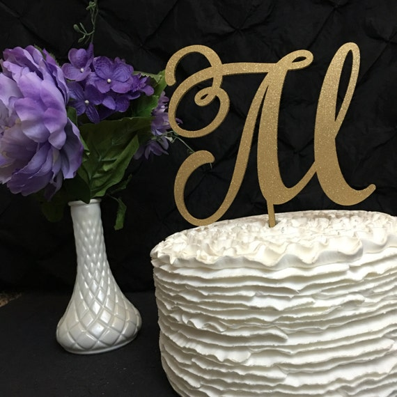 Monogram Cake Topper, Letter Cake Topper, Wedding Cake Topper, Custom Cake Topper, Wooden Cake Topper, Rose Gold Cake Topper