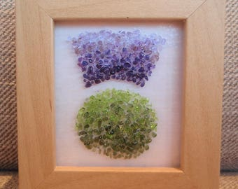 Purple Fused Glass 3-D effect Scottish Thistle