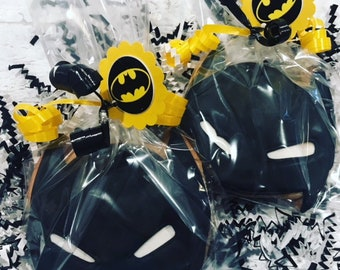 Batman birthday party Batman cookies 12 pcs Batman party favor Batman decoration batman invitation batman supplies batman cake pop superhero