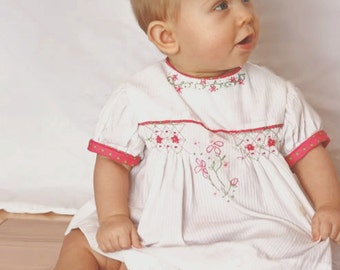 Posy Baby Smocked pattern - Ellie Inspired Girl Dress PDF Pattern - Newborn - 36 months