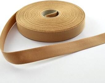 14.5 mm Beige cotton twill tape