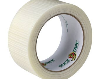 Transparent Duct Tape; 1.88 Inches by 20 Yards, Clear, Strong, Waterproof, Multipurpose Duct Tape, Duck