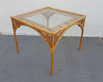 Franco Albini Style Rattan Dining Table .