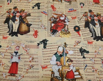Norman Rockwell Fabric Quilting Crafting Home Decor