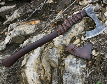 RAGNAR - Viking Axe Warrior Berserker Norse Cold Weapon Vikings Asatru Pagan Re-enactment Lothbrok Bearded Axes Medieval Middle Ages Sca