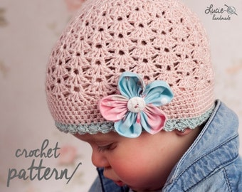 Crochet Hat PATTERN No.7 - Elastic Spring Hat Crochet Pattern