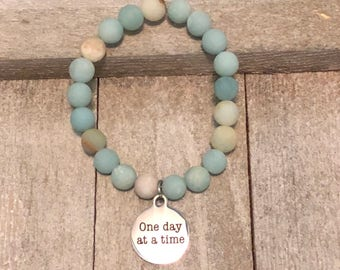 One day at a time Charm Bracelet