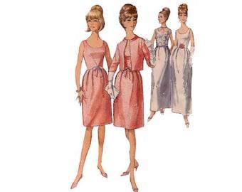 "Simplicity 6174, 60s sewing pattern, size 16 bust 36"" women's dress pattern,jacket pattern, pleated dress, bell skirt"