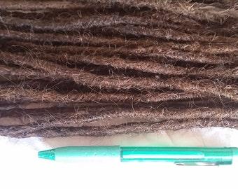 10 x DREADS Crocheted crochet human hair dreadlocks