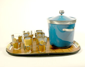 Vintage Mid Century 10 Piece Bar Set