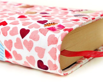 """Paperback book cover for MASS MARKET books - Fits smaller books measuring approximately 4.125"""" wide x 6.75"""" tall - Sweethearts"""
