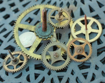 Clock Gears Large Size Vintage Ephemera