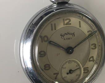Rare vintage Services Army Pocket Watch