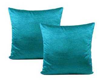 Solid Teal Pillow Cover, Set of 2 Pillow Covers