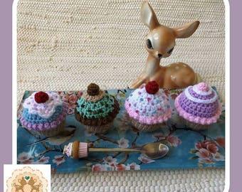 Crochet Cupcake, Fake Cupcake, Cupcake, Kids Play Cupcake, Pretend Cupcake, Play Cupcake, Children's Play Food, Children's Pretend Food