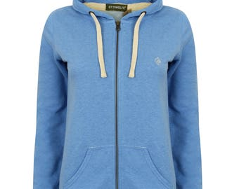 Woman's Organic Heather Zipped Hoodie