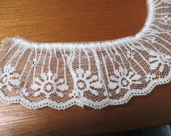 Vintage White lace  5 yards and 13/4 inch wide