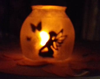 jam jar fairy jars, fairies in a jar, night light, home decor, mood lighting, fairy decal