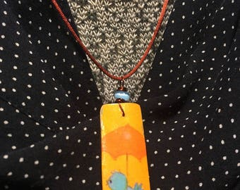Woodwind Reed Bluebird Necklace