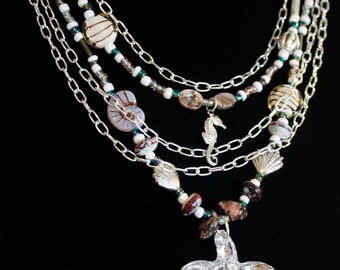 Starfish and Seahorse Layered Necklace