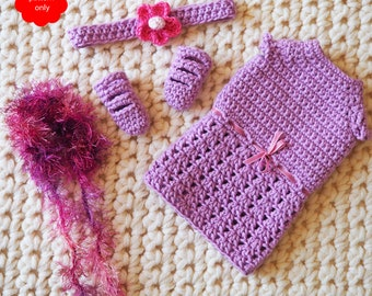 Doll outfit pattern to fit Crochet Luxe dolls - PDF PATTERN