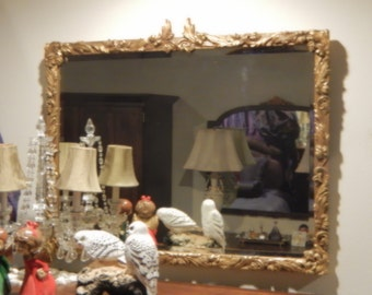 ANTIQUE GOLD Beveled Wall MIRROR