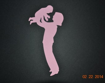 Pink Mother and Child Die Cut Scrapbooking Embellishment
