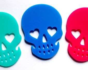 1/3 pieces - large skull cabochon - flatback - large cabs - kawaii decoden kit - craft supplies - gothic - cemetery - skull - sugar skull