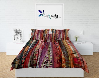 Boho Gypsy Spirit Comforter or  Duvet Cover,Twin  Full Queen King, , Rug, Curtains, Throw Pillow
