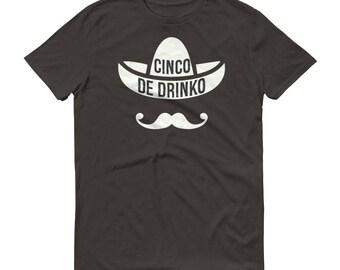 Men's Cinco De Drinko t-shirt - Drinking shirt for cinco de mayo , Tequila Shirt, funny drinking shirt, tequila shirt, tacos and tequila