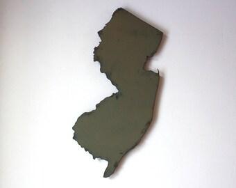 "New Jersey map metal wall art 15"" tall - NJ wall decor - choose your color - USA art state map art New Jersey art Newark Jersey City Trenton"