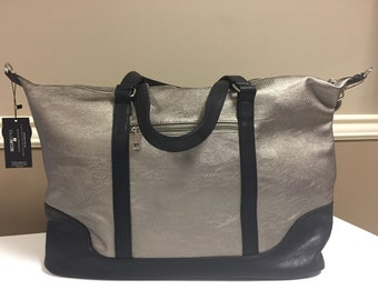 Bronze Metallic Weekender Overnight Bag