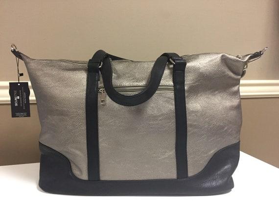 Bronze Metallic Weekender Overnight Bag
