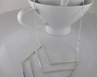 Silver Chevron Necklace