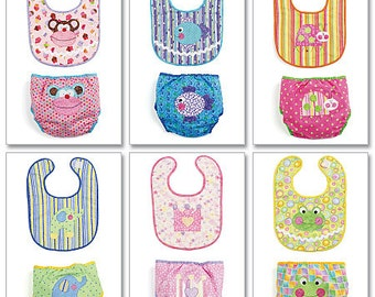McCall's Pattern M6108 Infants' Bibs and Diaper Covers