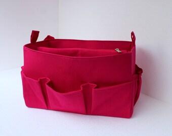Purse organizer Fits large Longchamp Le Pliage- Bag organizer insert in Pink