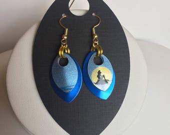 Moonlight Magic Jamberry Dragon Scale Earrings