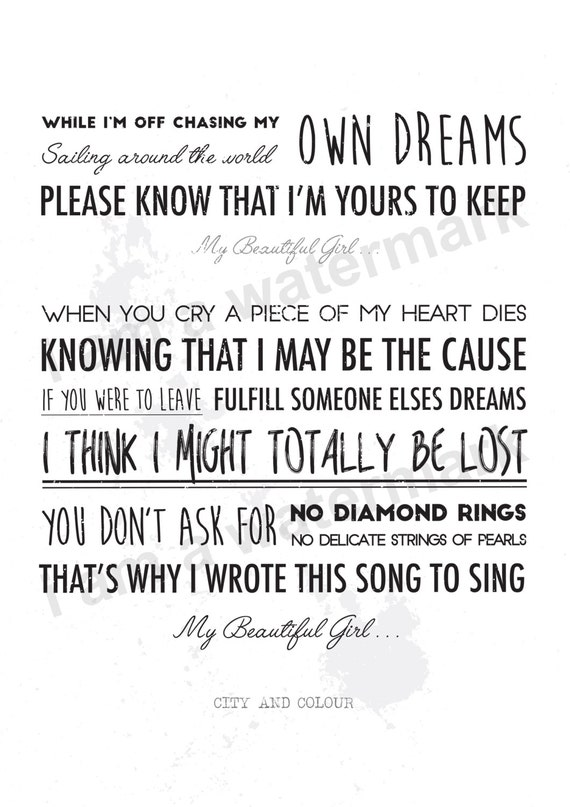 My Beautiful Girl City And Colour