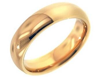 14K 5mm Yellow Gold Wedding Band