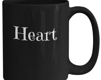 Heart mug - inspiritional coffee mug - heart coffee mug