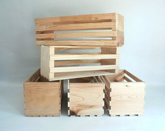Small Wood Crate CHOOSE YOUR CRATE