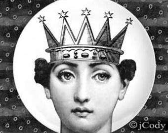 Queen II Cavalieri plate
