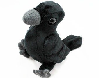 Crow or Raven Stuffed Animal Plush Toy - Made to Order