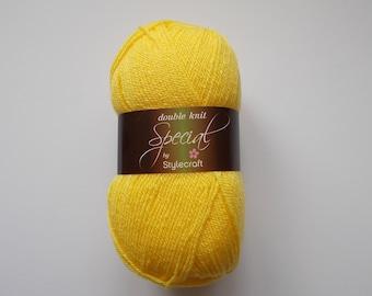 Stylecraft Special DK  yarn, 100g, CITRON, Yellow, Acrylic Yarn