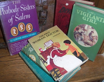 Collection of 6 Vintage Books Women Girls as Main Characters Novels Reading Library Bookshelf