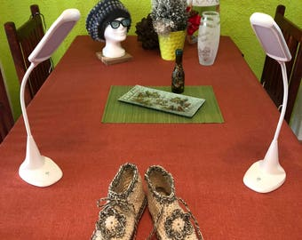 Super warm slippers made of sheep's wool