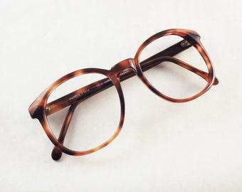 Tortoise Shell Eyeglasses, Big 1980s Glasses, Brown Eyeglasses, Vintage Multicolor Glasses, 80s Eyeglasses, Women Tortoise Eyeglasses