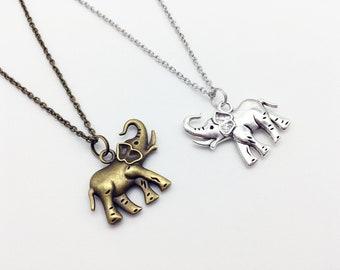 ELEPHANT Necklace Elephant Jewelry Elephant Gift Safari Necklace Safari Gift Safari Jewelry Wild Animal Necklace African Animal Necklace