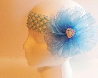 Blue Headband, Blue Bow Headband, Ladies Headband, Teen Headband, Girls Fancy Headband, Woman's Headband, Womans Headband, Headband FH62