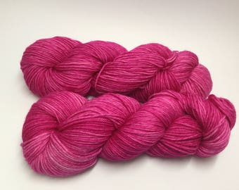 DK/8ply wool/nylon yarn in my Martha's Pyjamas colourway